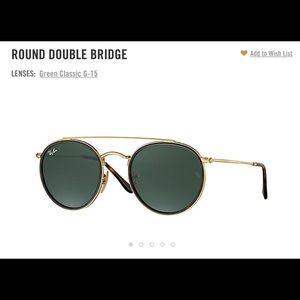 Ray Ban Round Double Ridge Sunglasses